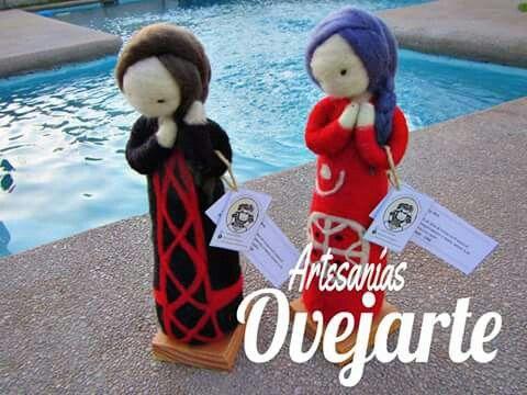 Esculturas en vellón inspiradas en la cultura Mapuche