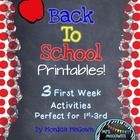 These Back to School, First Week Activities are perfect for 1st-3rd grades. Spread them out throughout the week as a way for your students to intro...