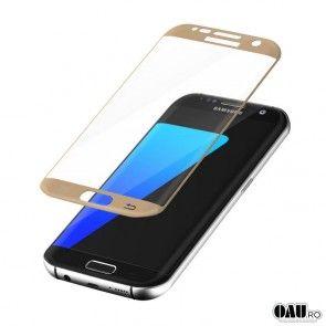 Sticla Temperata Samsung Galaxy S7 Edge, Gold
