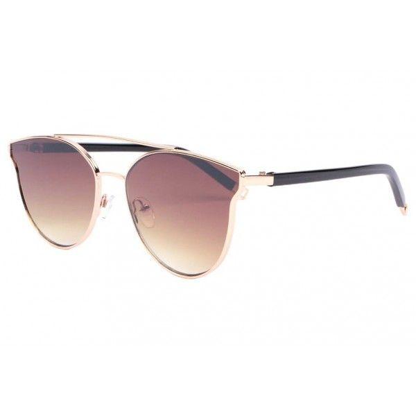 Lunettes de soleil fashion marron et dorée pour femme tendance Alda monture  fashion et couture, e35c688d53a6