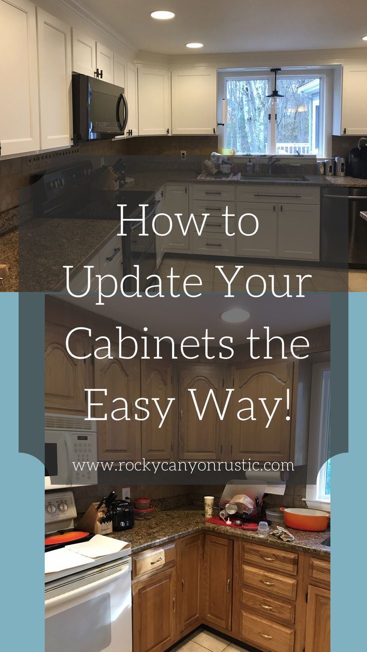 Painting Your Cabinets Makes A Huge Difference But Is Super Tedious Diy Cabinet Refacing Is Update Kitchen Cabinets Kitchen Refacing Refacing Kitchen Cabinets