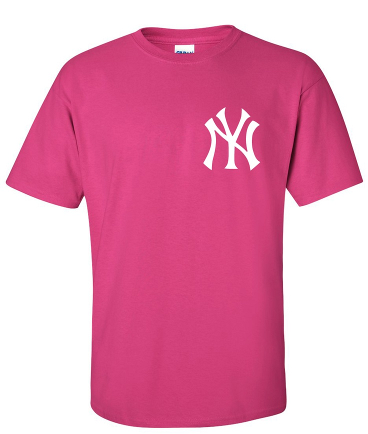 yankees pink tees | New York Yankees Logo Graphic T Shirt - Super ...