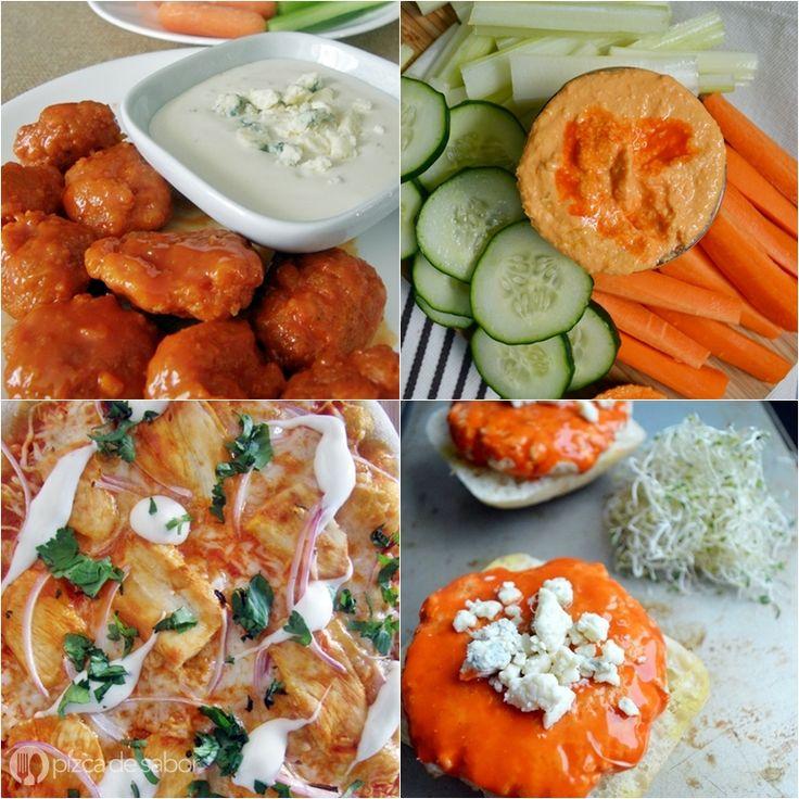 Recetas con salsa de alitas (salsa buffalo o búfalo) www.pizcadesabor.com