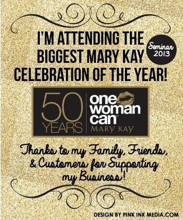 """I attended Mary Kay Seminar In Melbourne,Victoria,Australia!! YAY.. Celebrating 50 Years!! One Woman CAN!!xo"