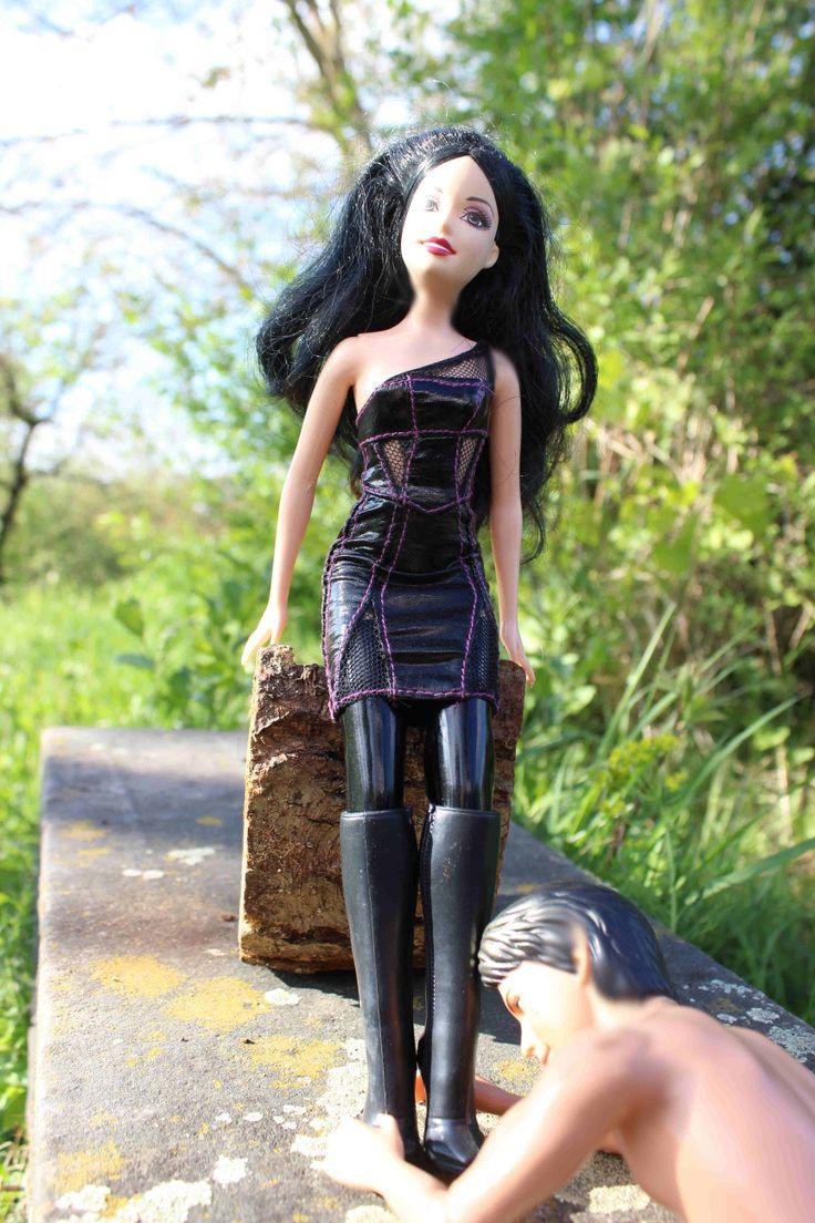 Femdom handjob barbie white