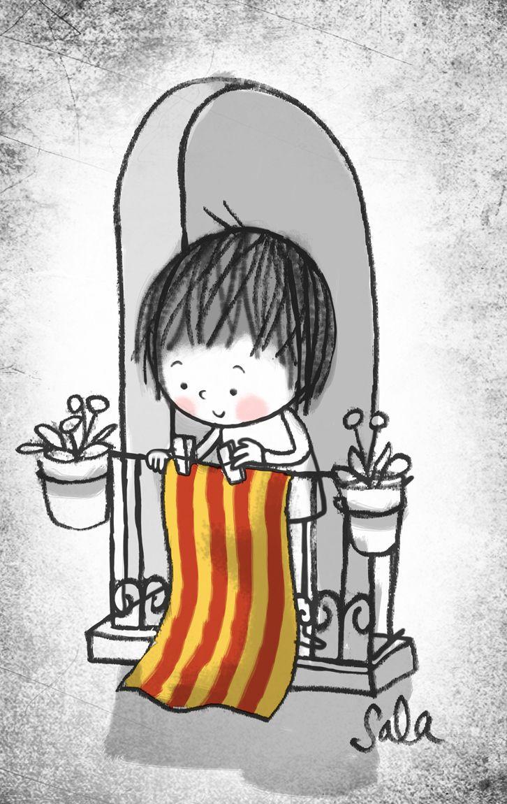 Per Sant Jordi, la senyera al balcó!