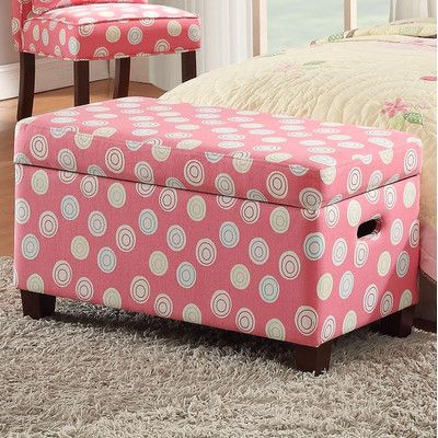 Deluxe Upholstered Storage Bedroom Bench Dot Patterns