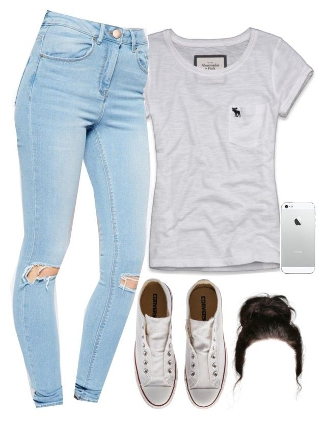 """""""Shitty set."""" by daisym0nste ❤ liked on Polyvore featuring Abercrombie & Fitch, ASOS and Converse"""