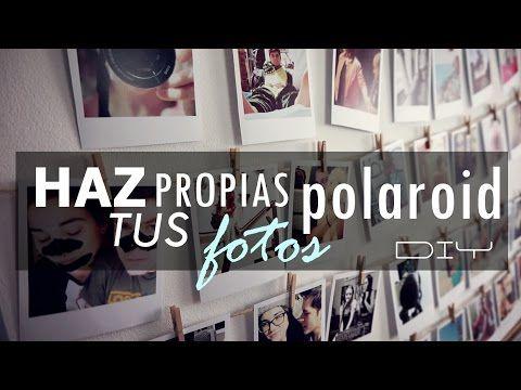 Como imprimir tus fotos estilo Polaroid - YouTube