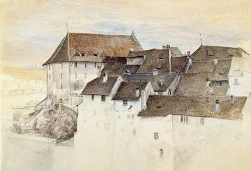 John Ruskin (1819–1900)  View of Brugg