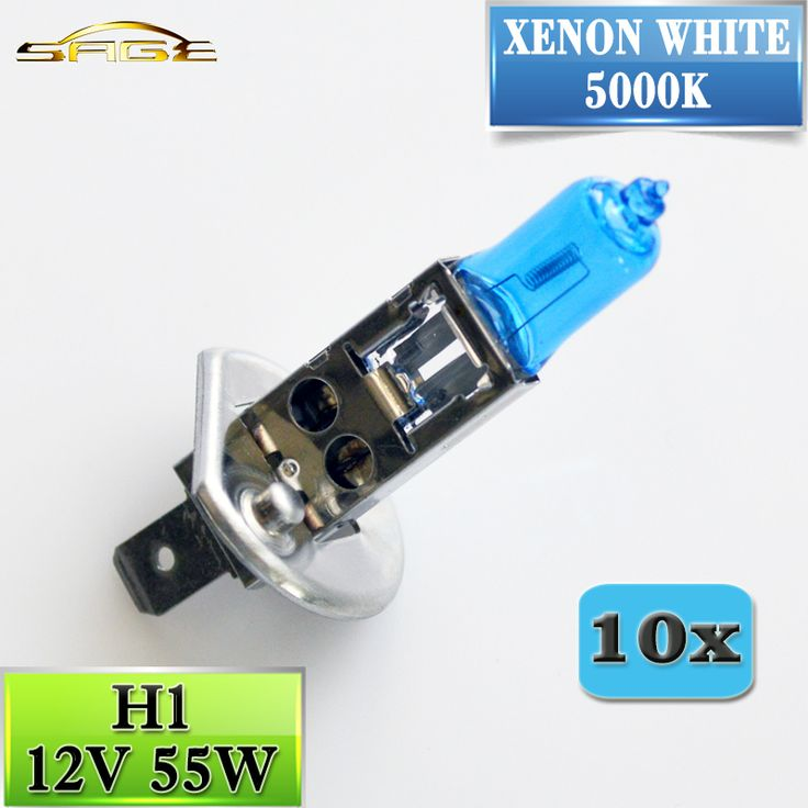 10 PCS 12V 55W H1 5000K Xenon Dark Blue 1700Lm Quartz Glass Car HeadLight Bulb Halogen Light Lamp Super White //Price: $13.00      #sale