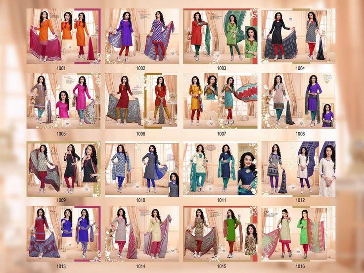 Buy Designer Next Step Vol-17 Two Top Concept Dress Material