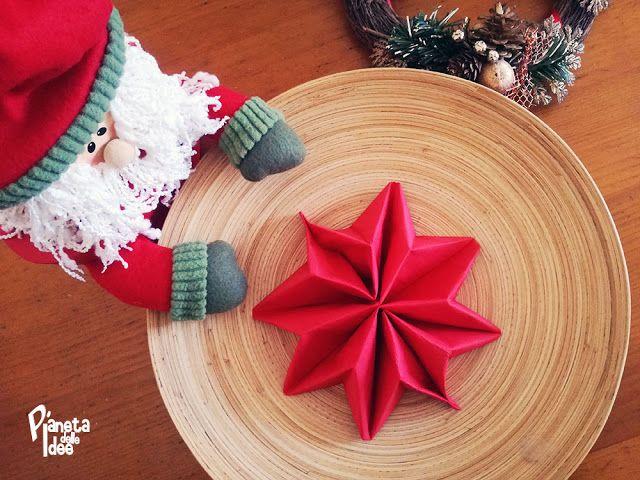 Tovagliolo piegato a Stella di Natale! | Pianeta delle Idee
