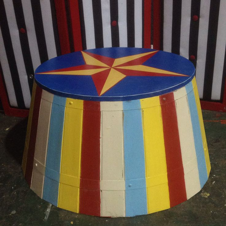 Circus Podium - The Prop Factory - Formerly the The Very Vintage Hire Company Ltd, creators of props for Films, TV and Events