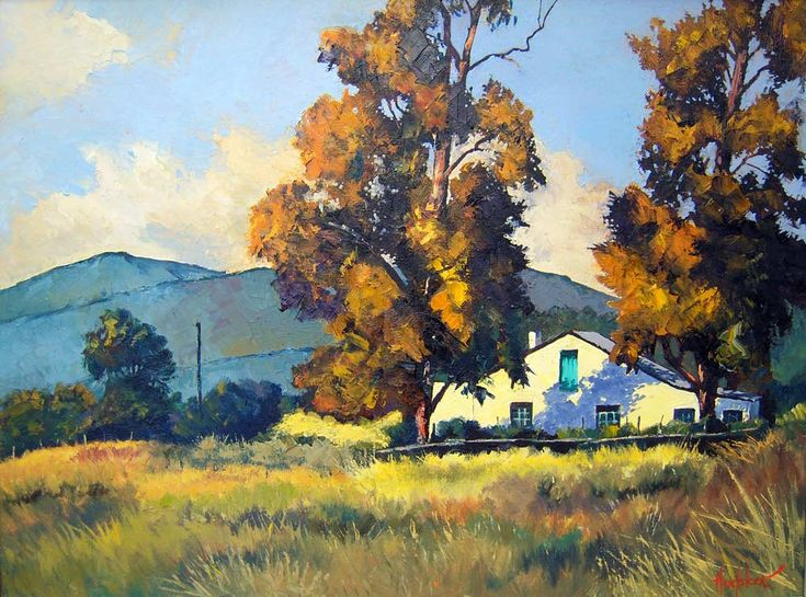 Two Gumtrees And A Farmhouse: Ted Hoefsloot,  South African Landscapes.