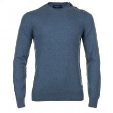 Paul Smith Knitwear - Sky Blue Button Shoulder Jumper