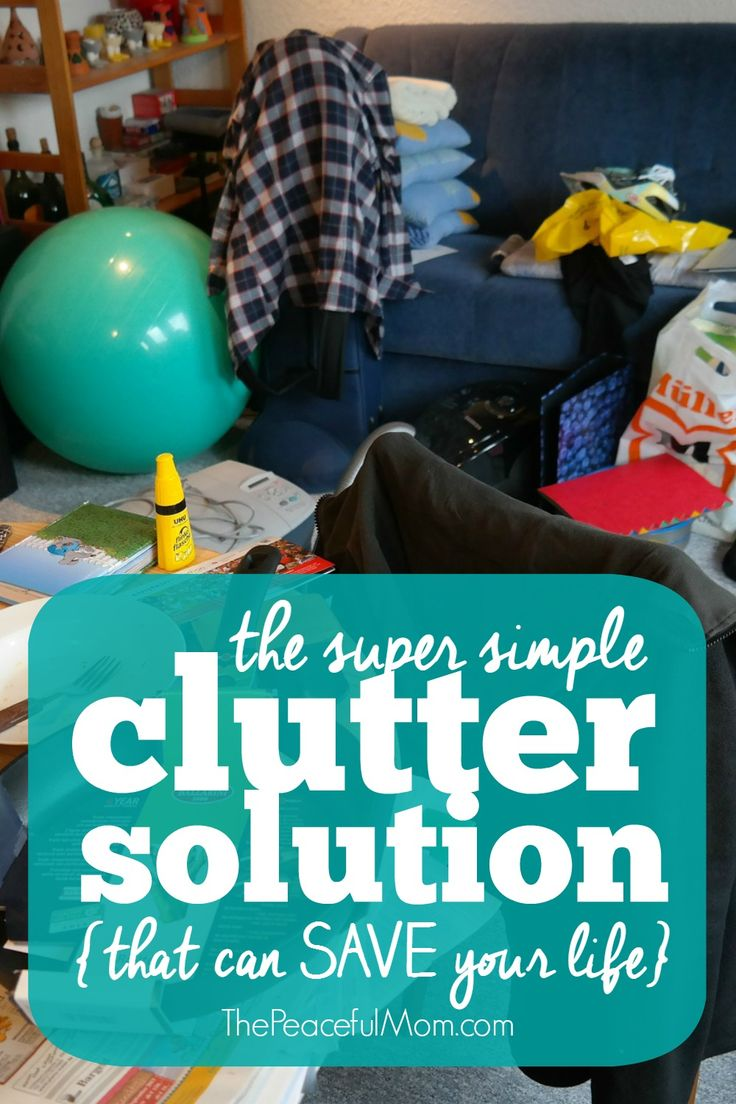 Are you overwhelmed by piles of stuff everywhere in your home? I have a simple solution for you that actually works! (I use it myself.) --from ThePeacefulMom.com