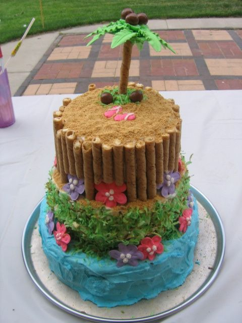 Fun tropical birthday cake idea for your Ramada Tropics party.    http://www.ramadatropicsresort.com/special-occasions.php