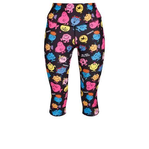 Mr Men & Little Miss Mixed Up Capri #Activewear #Gymwear #FitnessLeggings #Leggings #Tikiboo #Running #Yoga #MrMen #MrMenLittleMiss #LittleMissNaughty #LittleMissSunshine