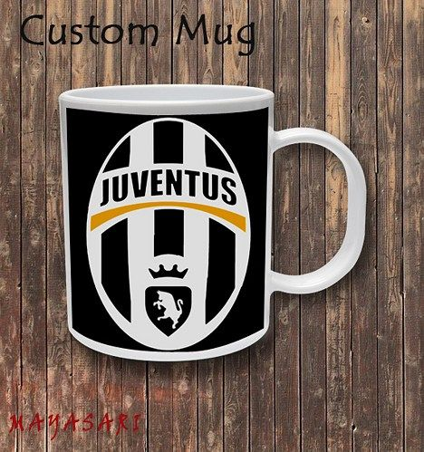 Juventus Football Club Custom Mug Coffee or Tea  Your favorite photo or funniest saying is a great way to start the day. Use our white custom mug to showcase your creativity. It has a large handle tha