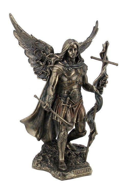 Gabriel Angel Statues 9.25 Inch Statue of Sa...