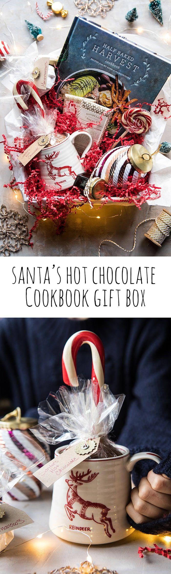 Santa's Hot Chocolate Cookbook Gift Box   halfbakedharvest.com @hbharvest