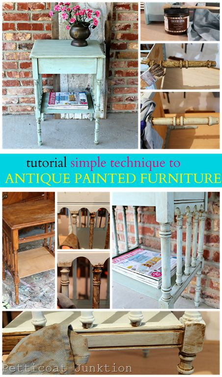 tutorial how to antique painted furniture 1