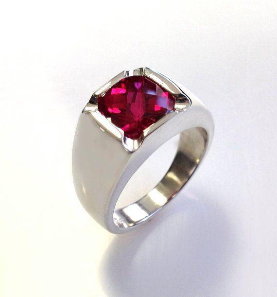 http://rubies.work/0778-emerald-earrings/ Men S Rings Bracelets, Ruby Rings, Mens Antique Style, Silver Rings, Antiques, Antique Style Cushion, Cushion Cut, Ruby Diamonds