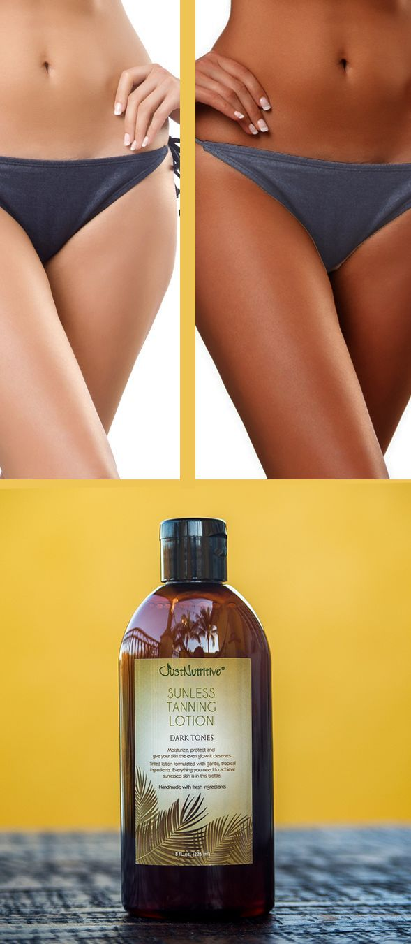 Make your bikini look better with a natural sunless tan.