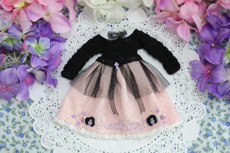 Winter Long Sleeve Pastel Goth Black Sweetheart BJD Dress - [ Unoa / Minifee / Narae / Slim MSD ] by cafelait on Etsy
