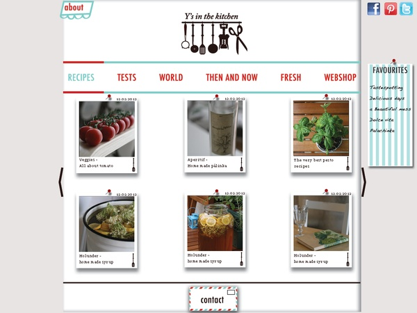 Y's in the kitchen by Szabina Nemes, via Behance