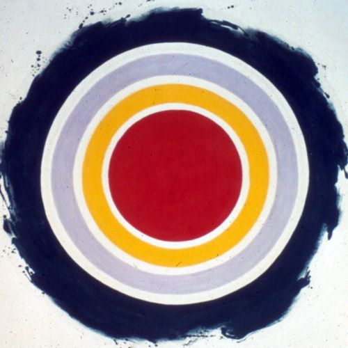 An early Kenneth Noland painting from the 60's. Reminded me of the Passion City Church logo.
