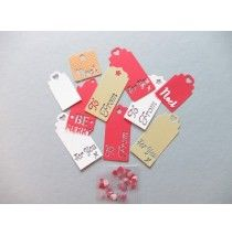 Christmas Gift Tags Kit Good quality Good value supplies for your handmade craft projects. Use for card making, scrapbooking, children's projects and hobbies.