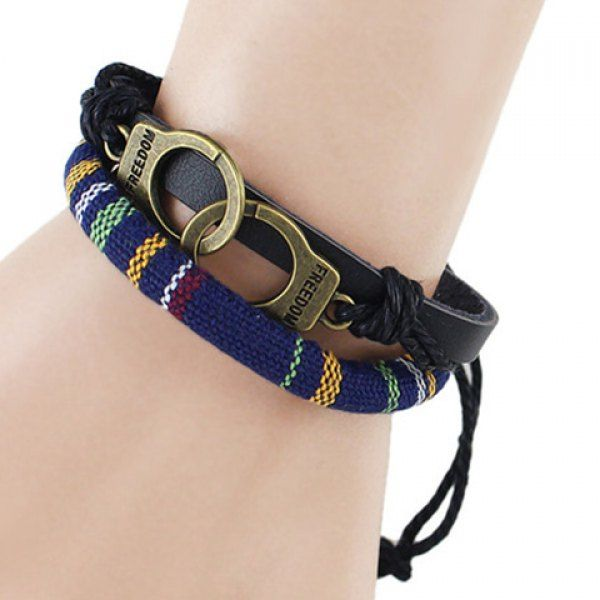 Retro Multilayer PU Leather Hook Bracelet For Men #jewelry, #women, #men, #hats, #watches, #belts, #fashion