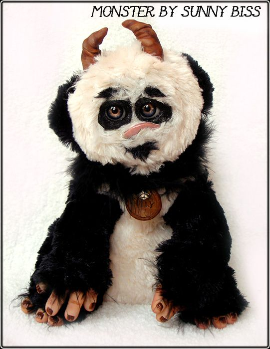 """""""Sully"""" Panda Monster by Sunny Biss http://www.sunnybiss.com"""