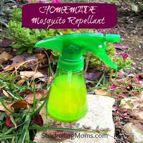 Perfect for summer - this all natural Homemade Mosquito Repellent is safe for children and pets!