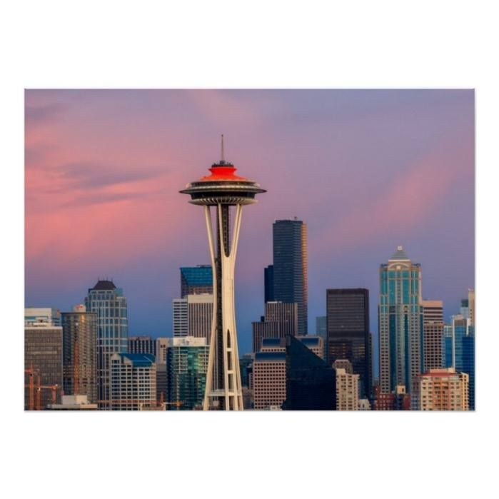 Customizable #2012 #Architecture #Building#Exterior #City #City#Life #Cityscape #Color#Image #Consumerproduct #Development #Dramatic#Sky #Dusk #High#Angle#View #Horizontal #No#People #Outdoors #Photography #Seattle #Skyline #Skyscraper #Tower #Travel#Destinations #Usa #Washington#State Seattle city poster available WorldWide on http://bit.ly/2i4uRK7