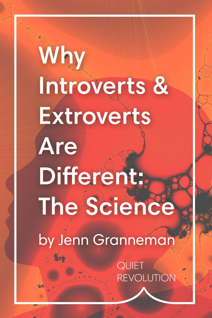 Wonder why introverts and extroverts are different? Jenn Granneman, of @introvertdear, explains the fascinating science behind introversion and extroversion → http://www.quietrev.com/why-introverts-and-extroverts-are-different-the-science/?utm_medium=social&utm_source=pinterest.com&utm_campaign=feature+life&utm_content=qr+pinterest