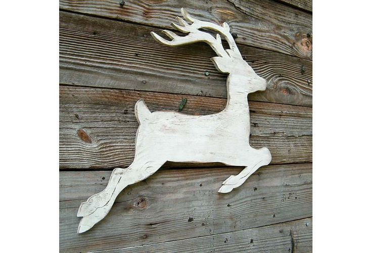 White Wooden Reindeer Pattern Woodworking Projects Amp Plans