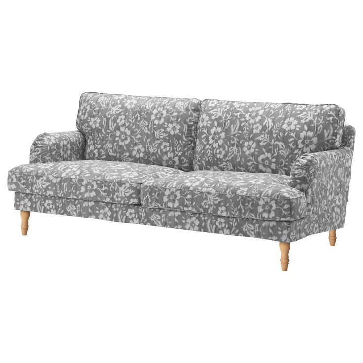 Unique IKEA STOCKSUND Three seat sofa Hovsten grey white light brown You get extra soft fort and support because the thick cushion has a core of pocket