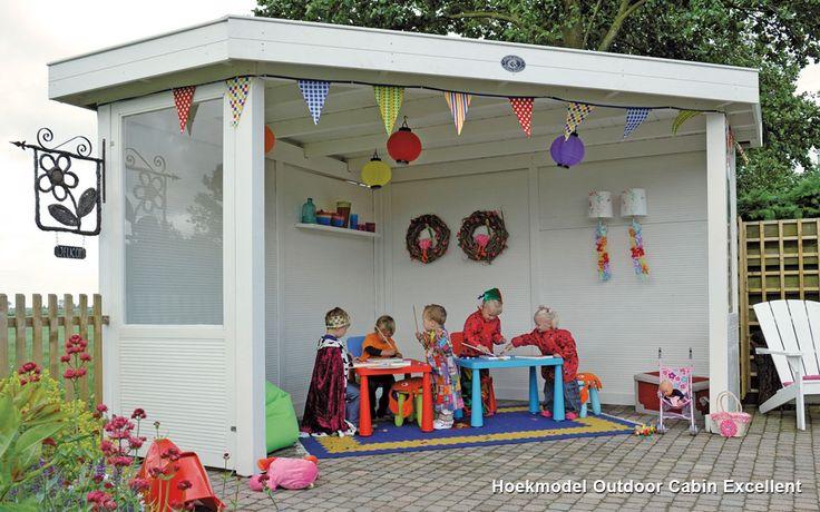 Hoekmodel Outdoor Cabin Excellent / Corner Outdoor Cabin Excellent