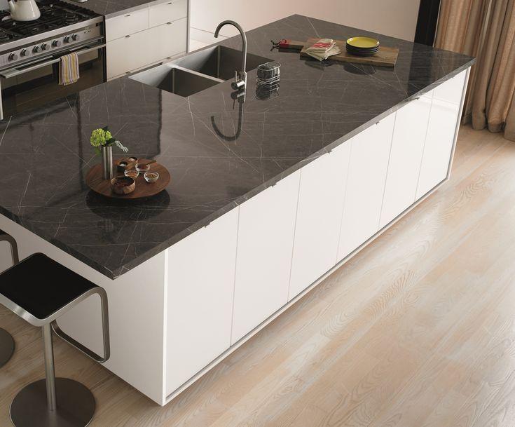 formica ferro grafite with white cabinets - Google Search