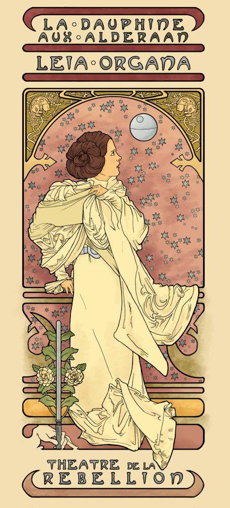 """La Dauphine aux Alderaan, Leia Organa, Theatre de la Rebellion"""". Nouveau Leia by Karen Hallion."""