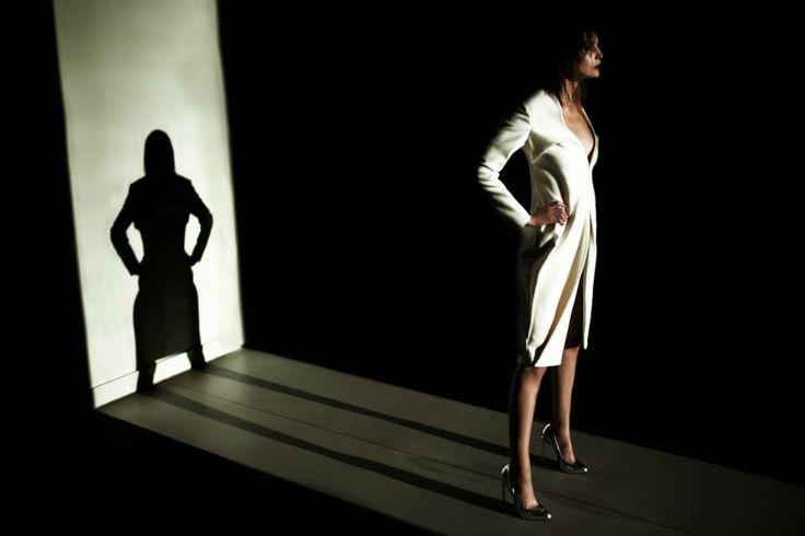 Sculptural, minimal fashion white coat. Designer: Boska by Eliza Borkowska Photo: Kamil Duszynski  Style: Robert Łosyk Make-up: Anna Akińcza Model: Oktawia @ MILK Assist & retouch: Paul Drozdowski