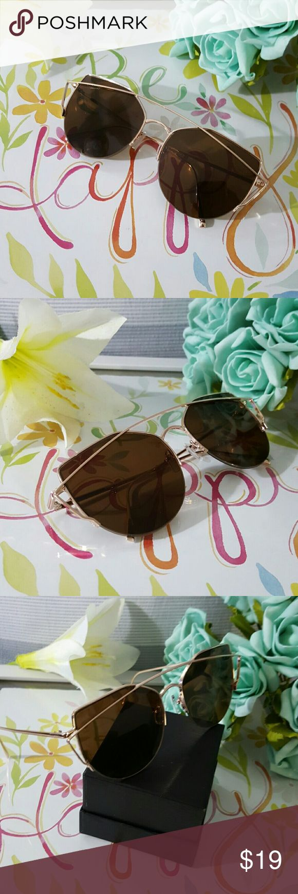 HIGH QUALITY CAT EYE  VINTAGE  SUNGLASSES GOLD FRAME BROWN   HIGH QUALITY CAT EYE MIRROR VINTAGE  SUNGLASSES Cat eye Women Sunglasses 2017 New Brand Design Mirror Flat Rose Gold Vintage Cateye Fashion sun glasses lady Eyewear  52mm   ALSO AVAILABLE IN MY CLOSET. LATEX WAIST TRAINER NEOPRENE CONTROL CINCHER VEST CORSET BUTT LIFTER PADDED PANTY SWIMSUIT WOMAN MEN SUNGLASSES SILICONE BRA ADHESIVE NIPPLE COVERS PHONE Accessories Sunglasses