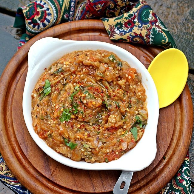 Baigan Bhartha – Char Roasted Eggplant Puree   Recipe ...