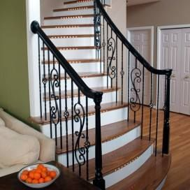 View Completed Projects Submitted By StairSupplies Satisfied Customers Who  Have Used Solid Wood Newel Posts In Their Stairway Design.