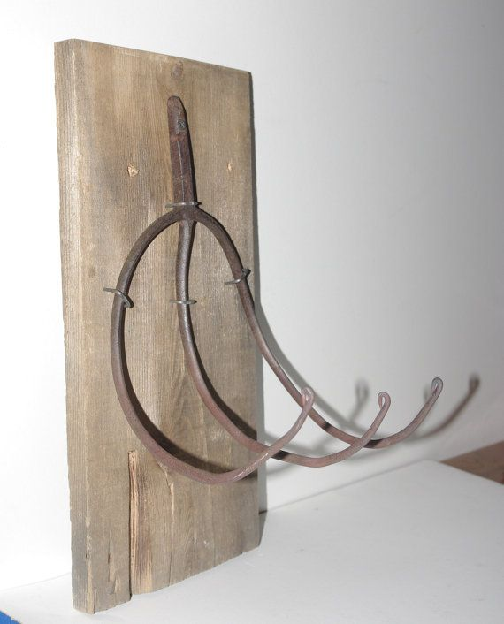 Antique Pitch Fork Coat and Hat Rack antique iron by ReUpDesigns