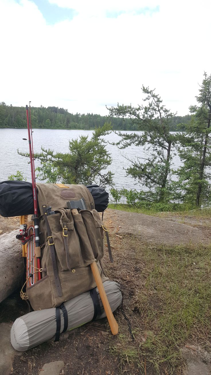 Isle Royale Bushcraft packs, made at Frost River in the USA from waxed canvas, premium leather, and solid brass. A rucksack for every day carry in the bush. #bushcraftrucksack