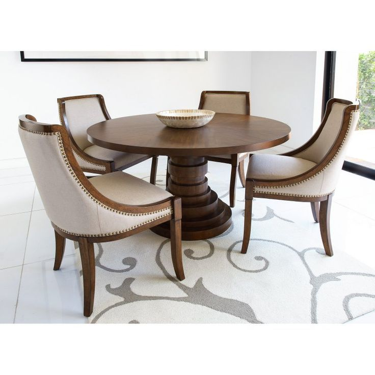 Abbyson Charleston Round Dining Table Set - RK-4552-5PC